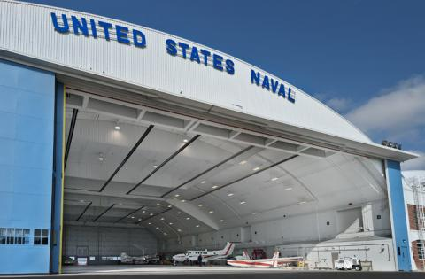 custom bottom rolling hangar door at jax naval air station