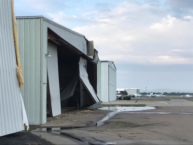denton texas hangar door failure