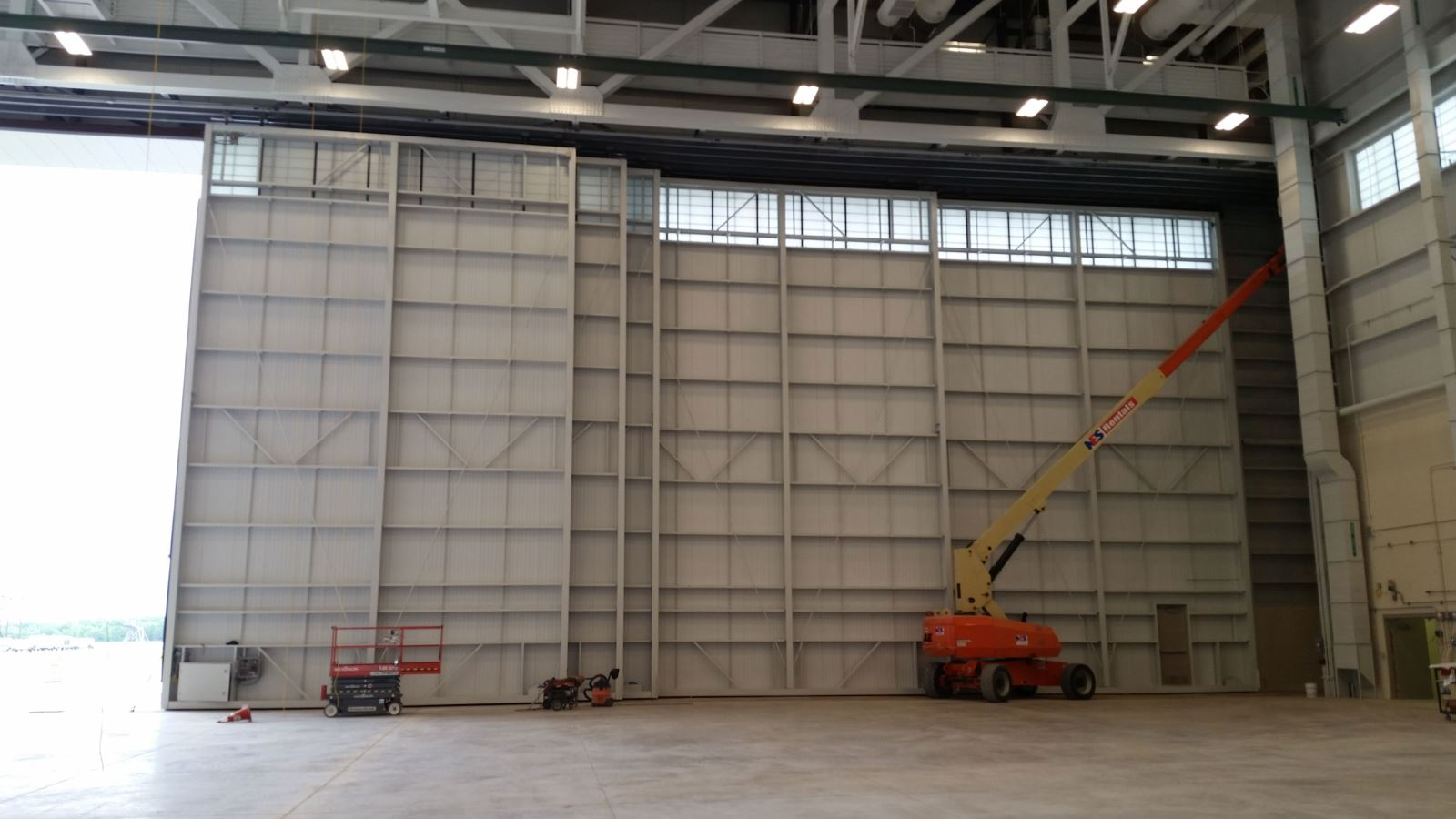 Inside Aircraft Hangar Door 2 by WELL BILT Industries - CT