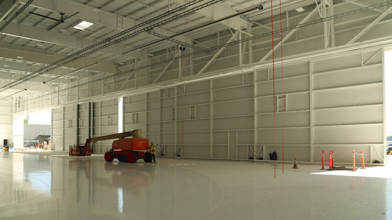 Inside View of the Jet Aviation and Gulfstream Hangar in Van Nuys California