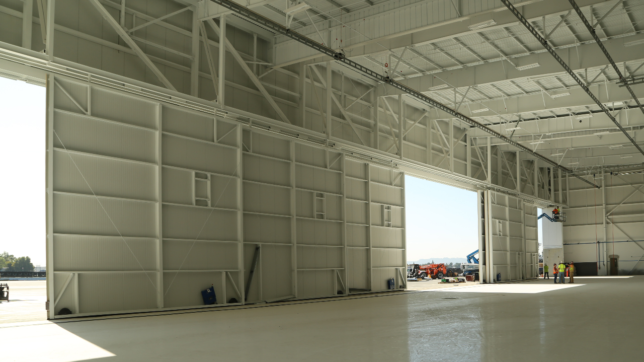 Another inside View of the Jet Aviation and Gulfstream Hangar in Van Nuys California