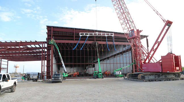 Well Bilt Industries Large Hydraulic Door Installation for C & C Marine