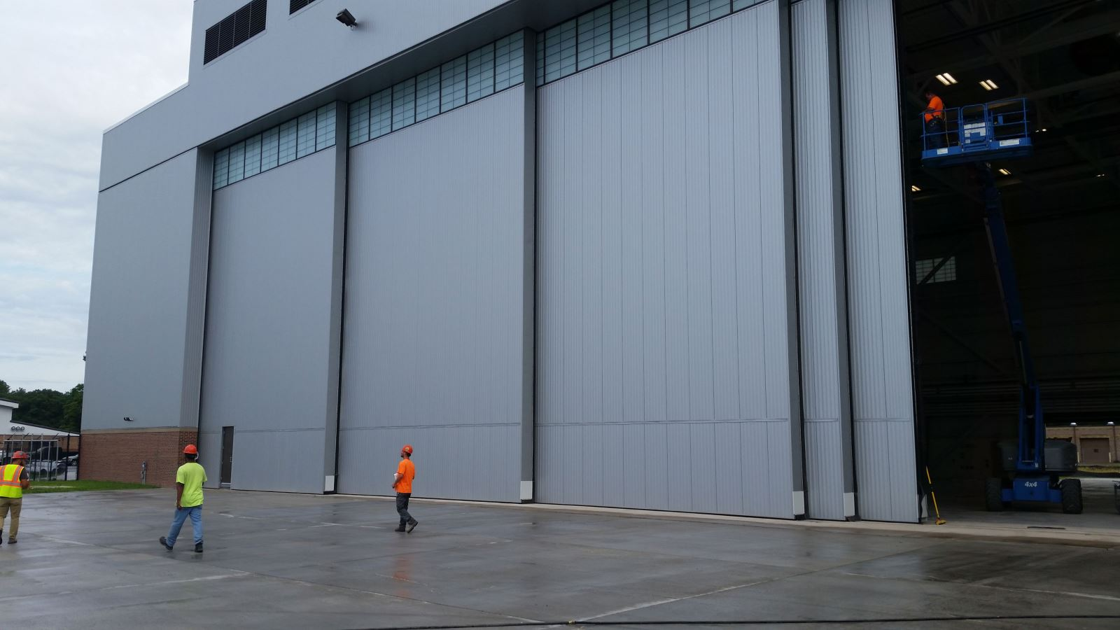 Outside Aircraft Hangar Door by WELL BILT Industries - CT