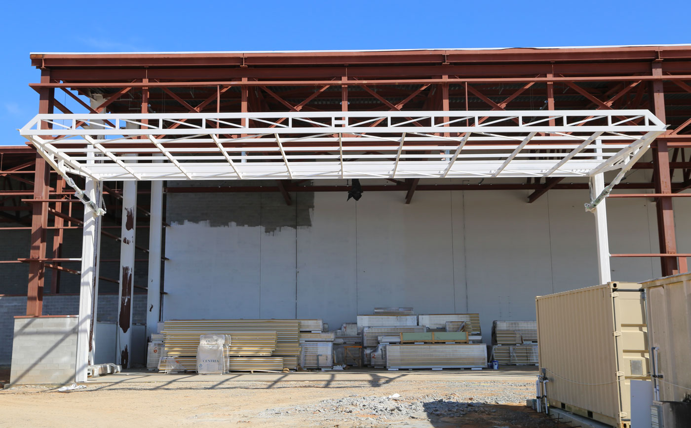 wellbilt single panel hydraulic doors five hangar project
