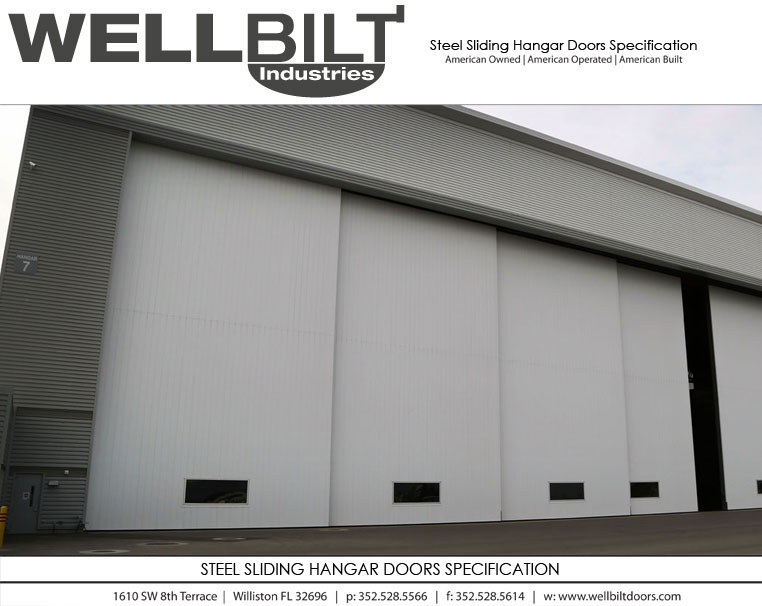 steel sliding hangar doors specification