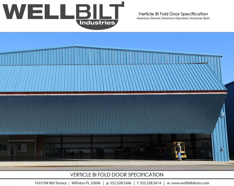 verticle bi fold door specification