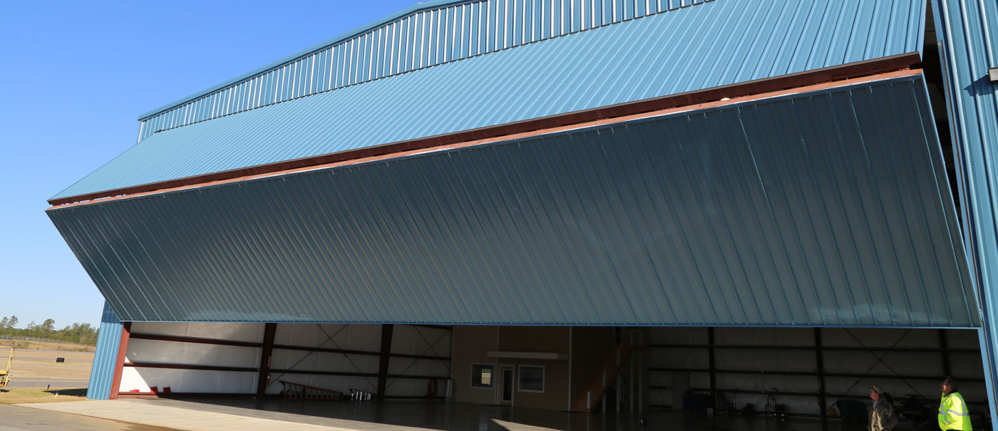 well bilt industries custom bi fold hangar door for aviation and aircraft hangars