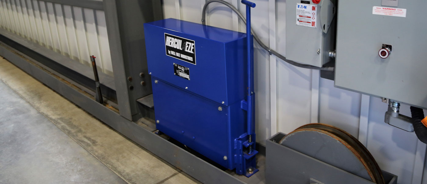 hercul eze patented bottom rolling hangar door operators by well bilt industries