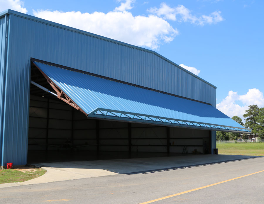Hangar Doors Bottom Rolling Bi Fold Single Panel
