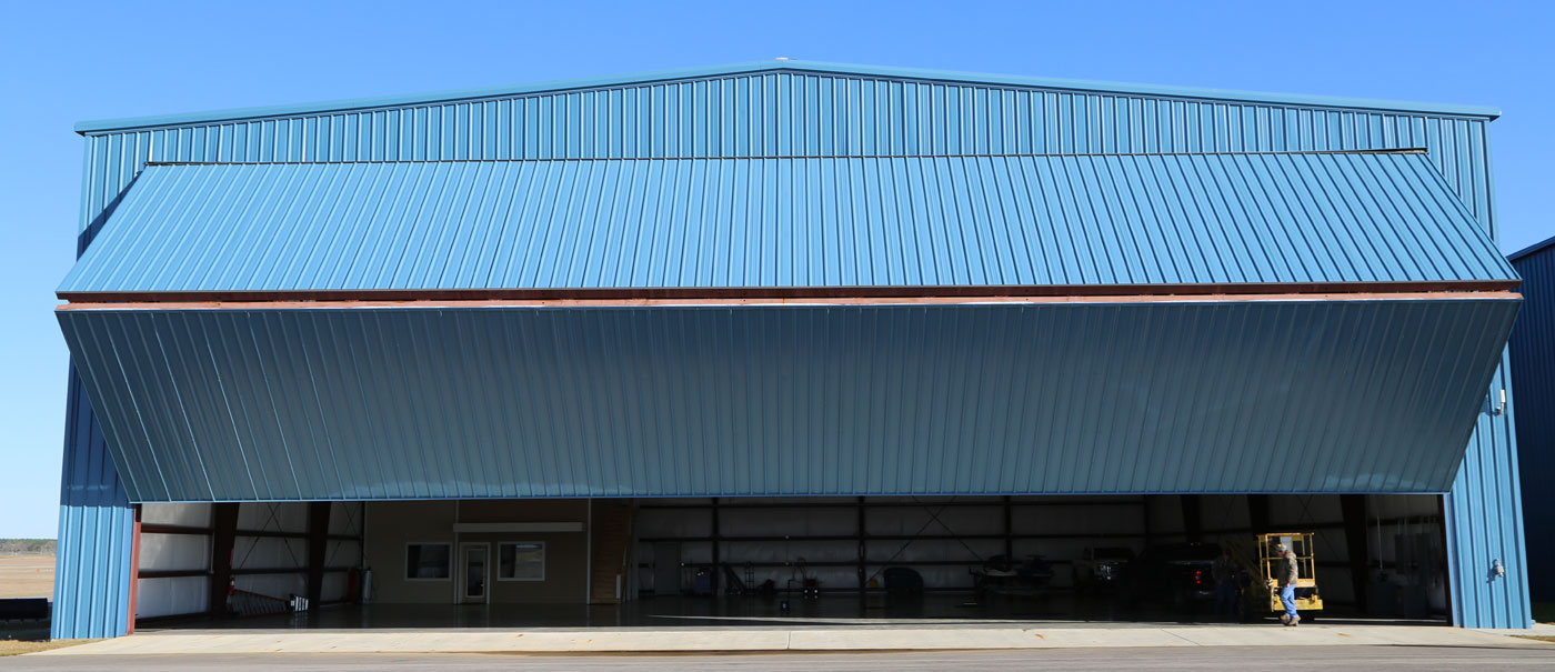 bi fold hangar doors by well bilt industries t hangar complex