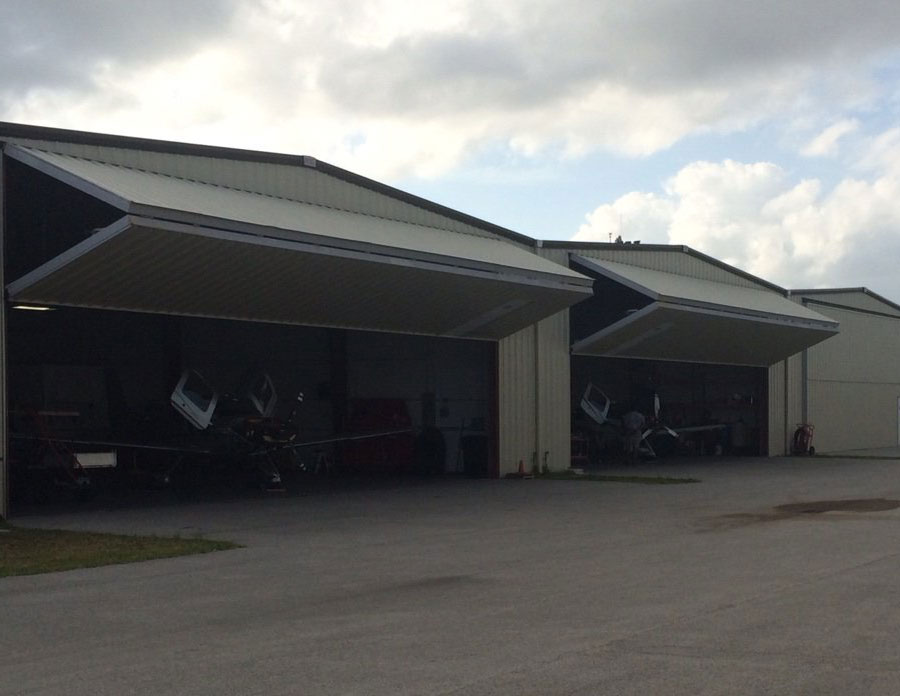 bi fold hangar doors by well bilt industries